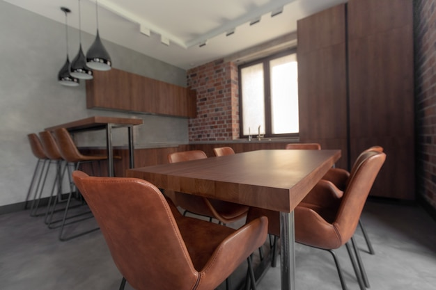 Furniture in modern stylish dining room