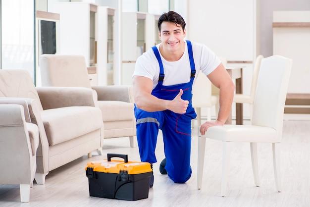 Furniture repairman at home service