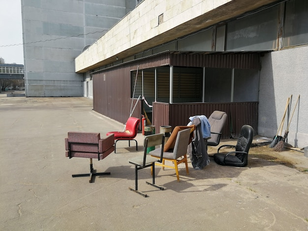 Furniture that has fallen into disrepair is old junk