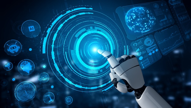 Future artificial intelligence robot and cyborg