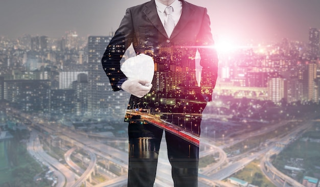 将来の建物建設エンジニアリングプロジェクト。