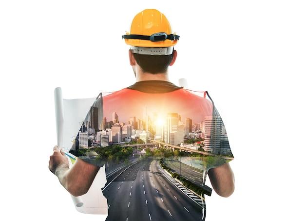 Инженерный проект строительства будущего здания. Premium Фотографии