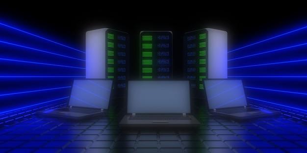 将来のデータセンターの概念。図