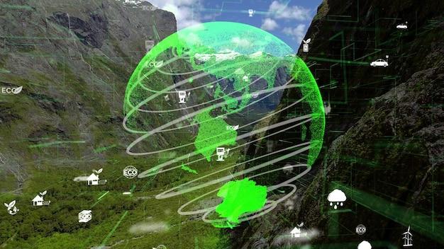 Сохранение окружающей среды в будущем и устойчивое развитие модернизации esg