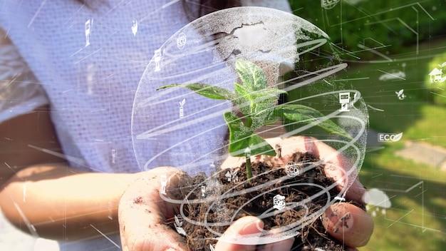 미래 환경 보전 및 지속 가능한 esg 현대화 개발