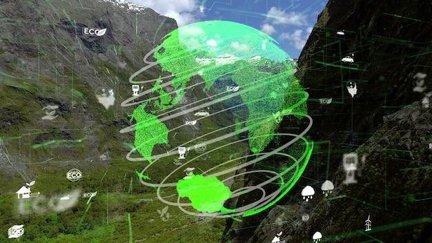 将来の環境保全と持続可能なesg近代化の開発