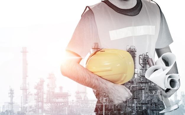 미래 공장 공장 및 에너지 산업 개념.