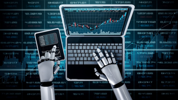Future financial technology controlled by ai robot using machine learning