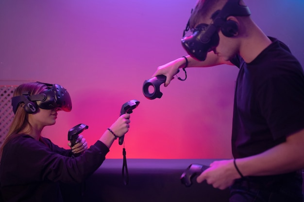 The future of the gaming industry. people play vr.