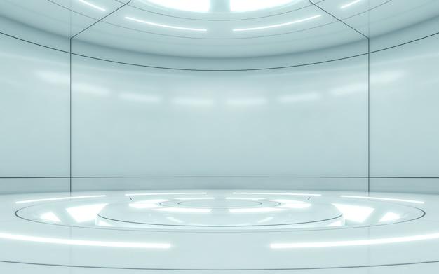 Future modern interior stage