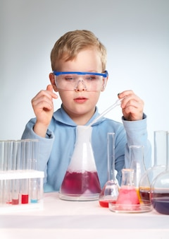 Future scientist learning