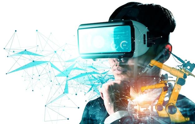 Технологии виртуальной реальности будущего для управления манипуляторами механизированных промышленных роботов