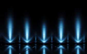 Futuristic abstract light and reflection