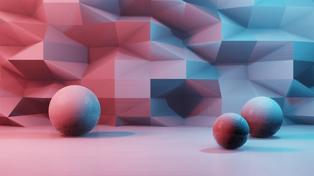 Futuristic abstract polygonal metal background