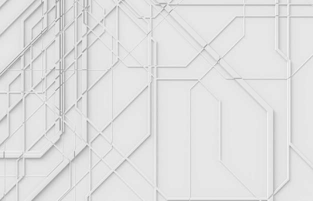 建築構造の質感と未来的な抽象的な白い3 d背景