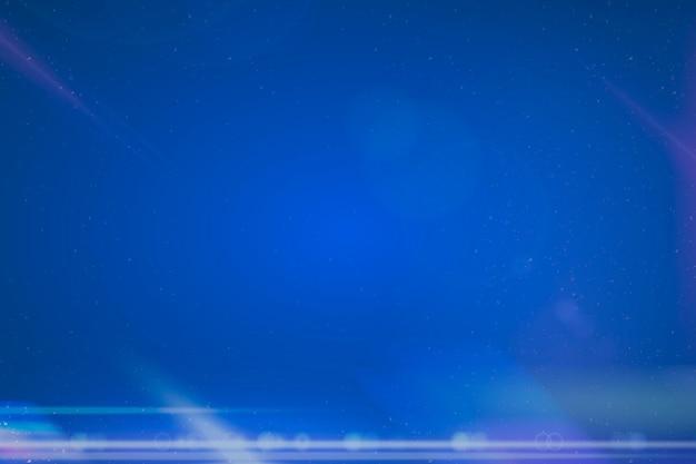 深い青色の背景に未来的なアナモルフィックレンズフレア