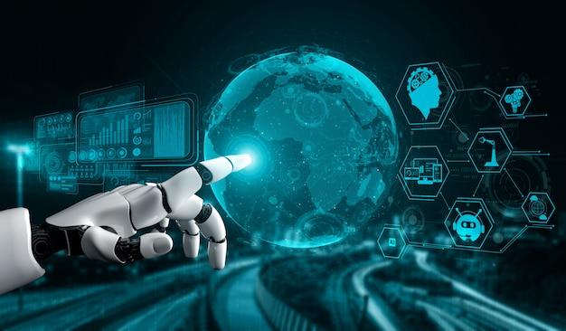 Futuristic artificial intelligence