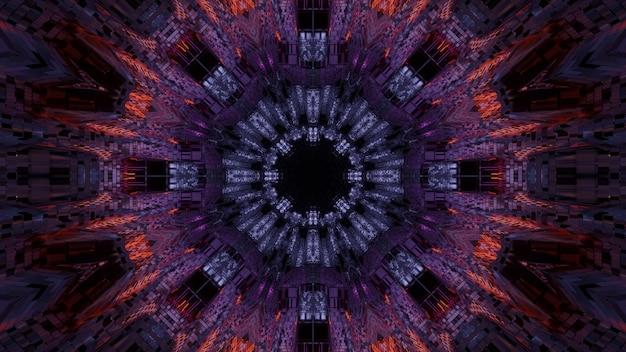 Sfondo futuristico con luci laser viola e blu astratte - ottimo per uno sfondo digitale