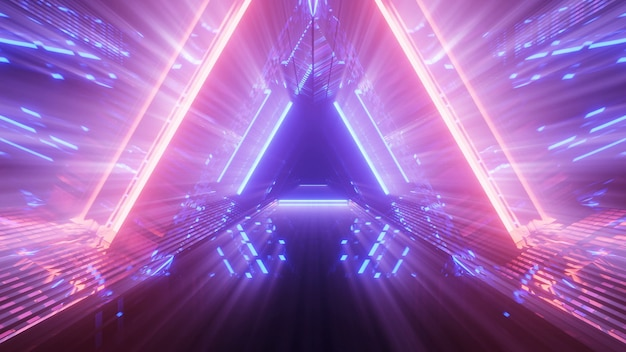 Futuristic background with colorful glowing abstract neon lights