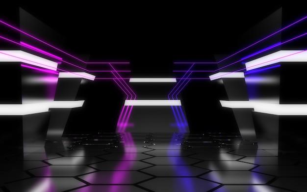 Futuristic data center concept. 3d illustration