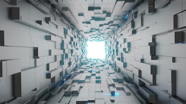 Футуристический пустой туннель