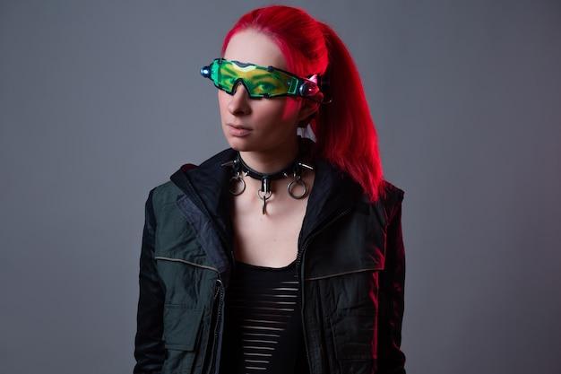Футуристические очки с подсветкой гаджет дополненной реальности