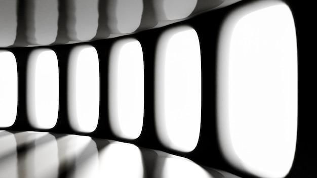 Футуристический мрачный пустой интерьер. 3d-рендеринг.