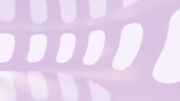 Футуристический светло-фиолетовый пустой матовый интерьер. 3d-рендеринг.