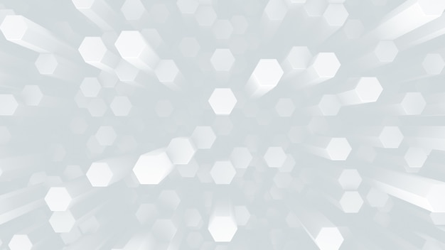 Futuristic low-contrast background. many hexagonal crystal rods