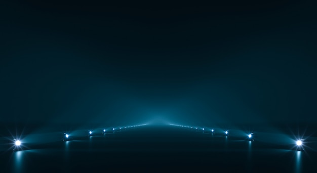 Futuristic pathway background with light illumination