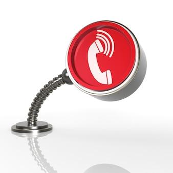 Futuristic phone button concept. 3d rendering icon...