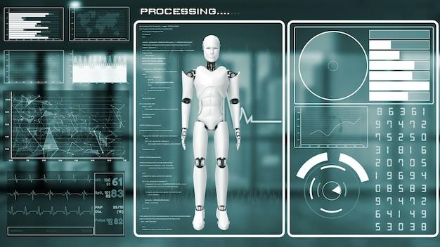 未来のロボット、人工知能cgiビッグデータ分析とプログラミング