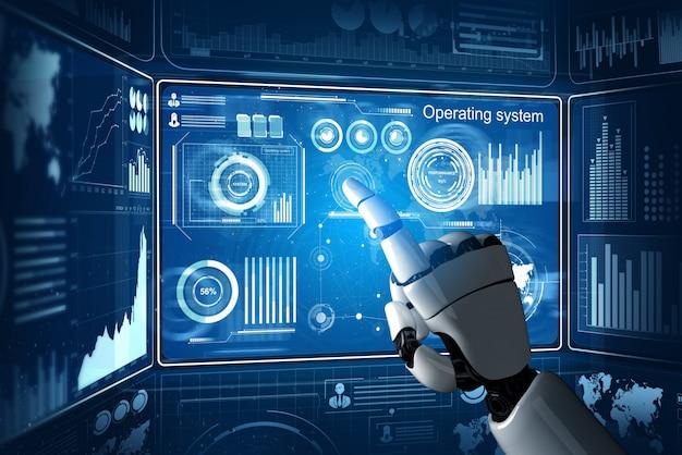 미래형 로봇 인공 지능 개념입니다.