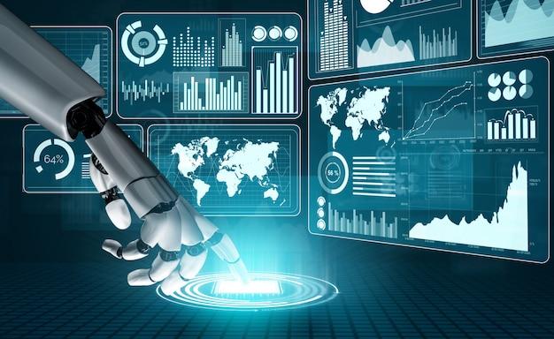 Футуристическая концепция искусственного интеллекта робота