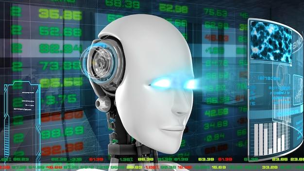 Футуристический робот для биржевой торговли