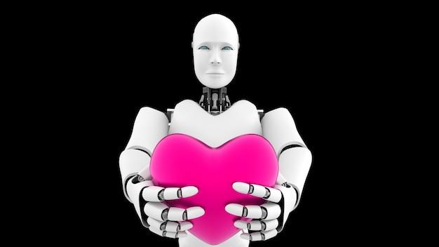 Футуристический робот с искусственным интеллектом
