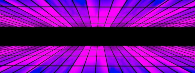 Futuristic sci fi tunnel modern neon