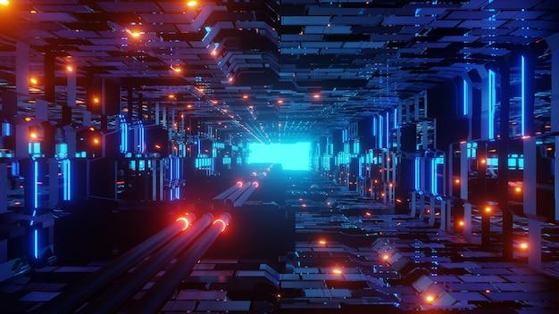 미래 공상 과학 터널