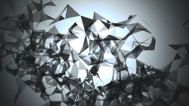 Футуристическая форма. компьютер создан абстрактного фона