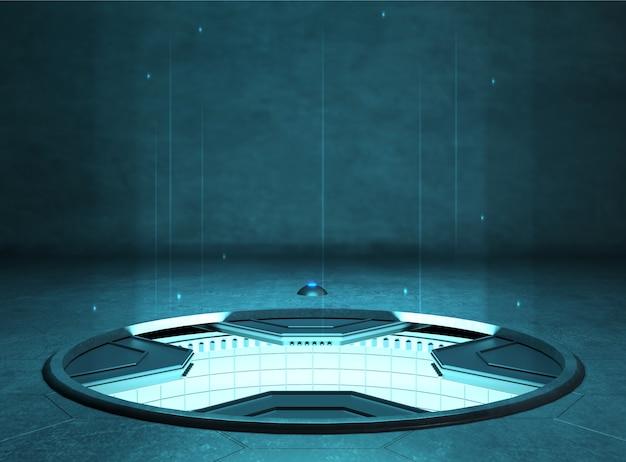 Futuristic stand or podium background for logo