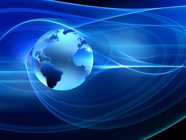 세계와 미래 기술 추상적 인 배경