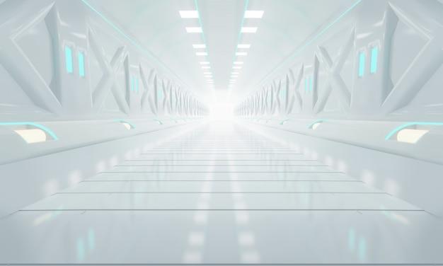 Futuristic tunnel corridor design.