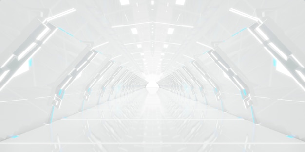 Futuristic tunnel corridor design.