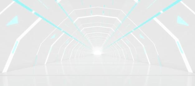 미래형 터널 복도 디자인.