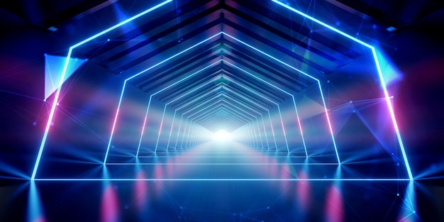 Futuristic tunnel corridor design