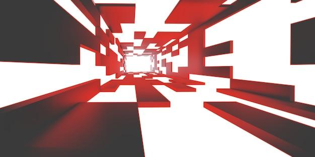 Футуристический туннельный коридор с технологией неоновых огней обои фон светлый коридор 3d
