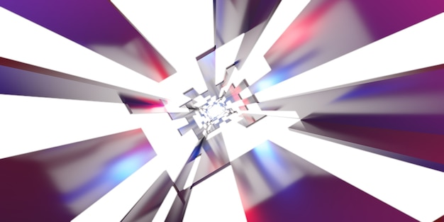 Футуристический туннельный коридор с неоновыми огнями, технология обоев, фон, светлый коридор