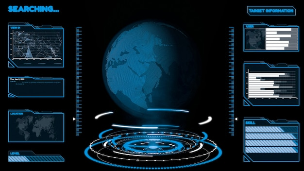 정보 차트에서 빅 데이터 분석을위한 미래형 사용자 인터페이스 대시 보드