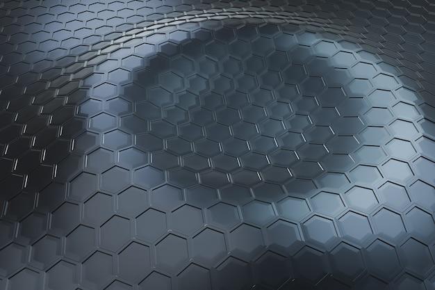 Футуристический волновой образец шестиугольника