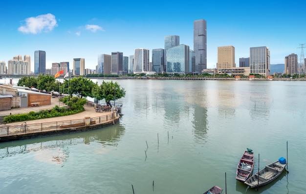 Городской пейзаж фучжоу, китай